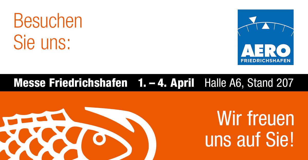 Wir stellen aus - auf der Luftfahrtmesse AERO 2020 in Friedrichshafen